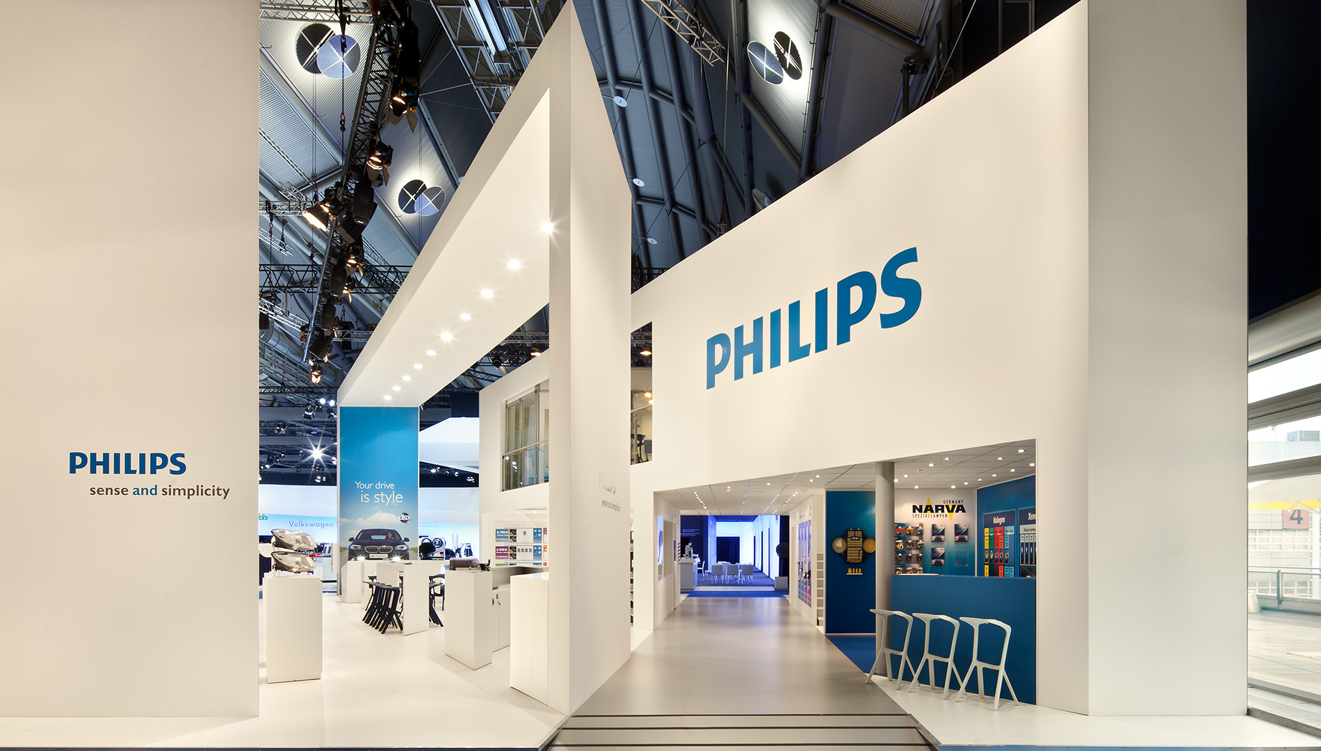 Messe Design Live Kommunikation Frankfurt Philips Automotive Lighting Messestand Going Places EventLabs