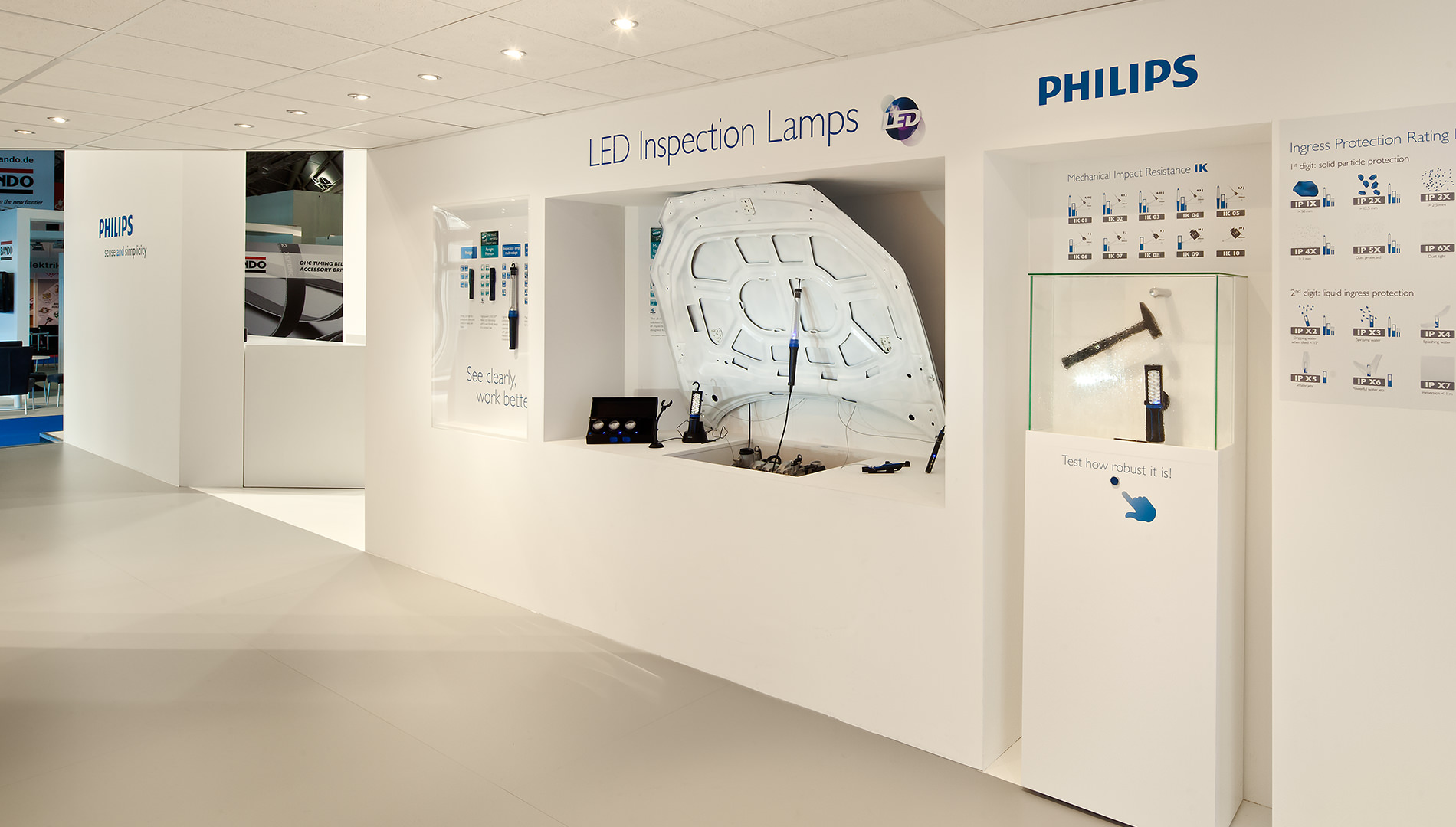 Messe Design Live Kommunikation Frankfurt Philips Automotive Lighting LED Inspection Lamps Going Places EventLabs
