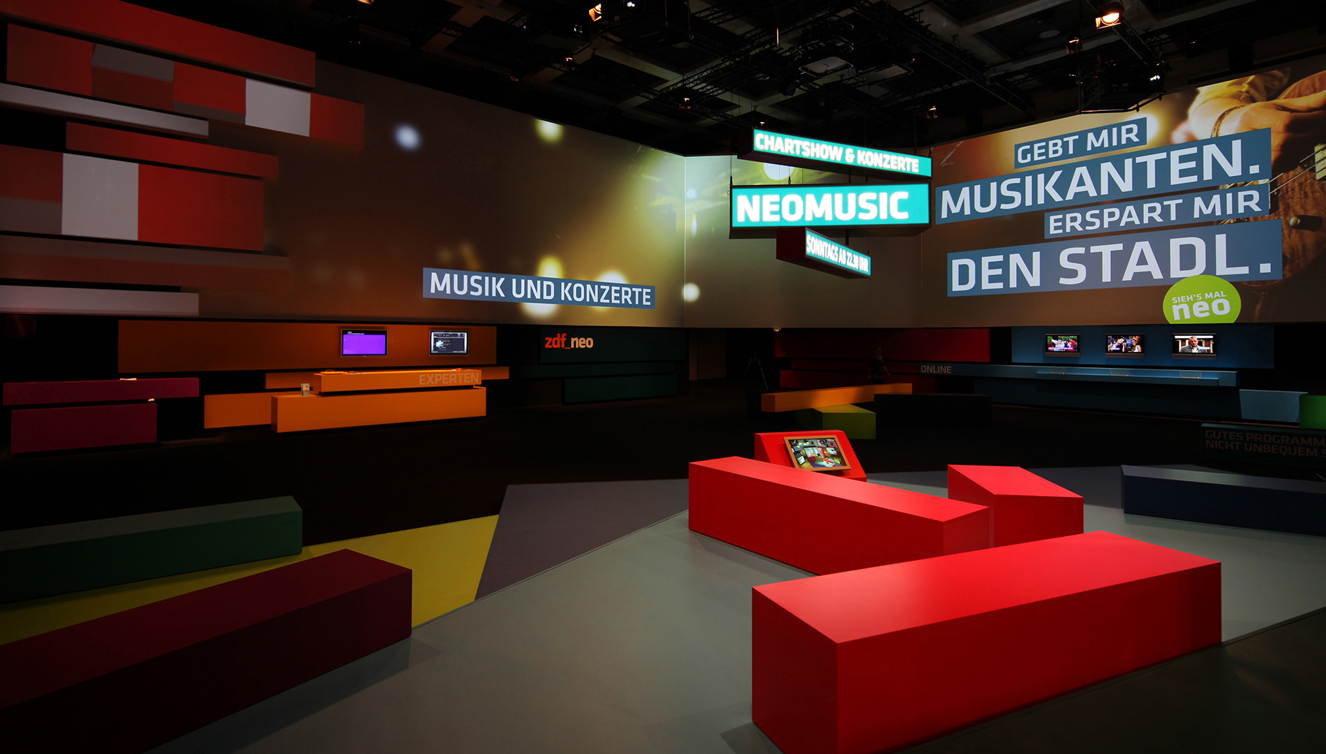 Messe Design Live Kommunikation Berlin ZDF neo IFA Messestand Going Places EventLabs