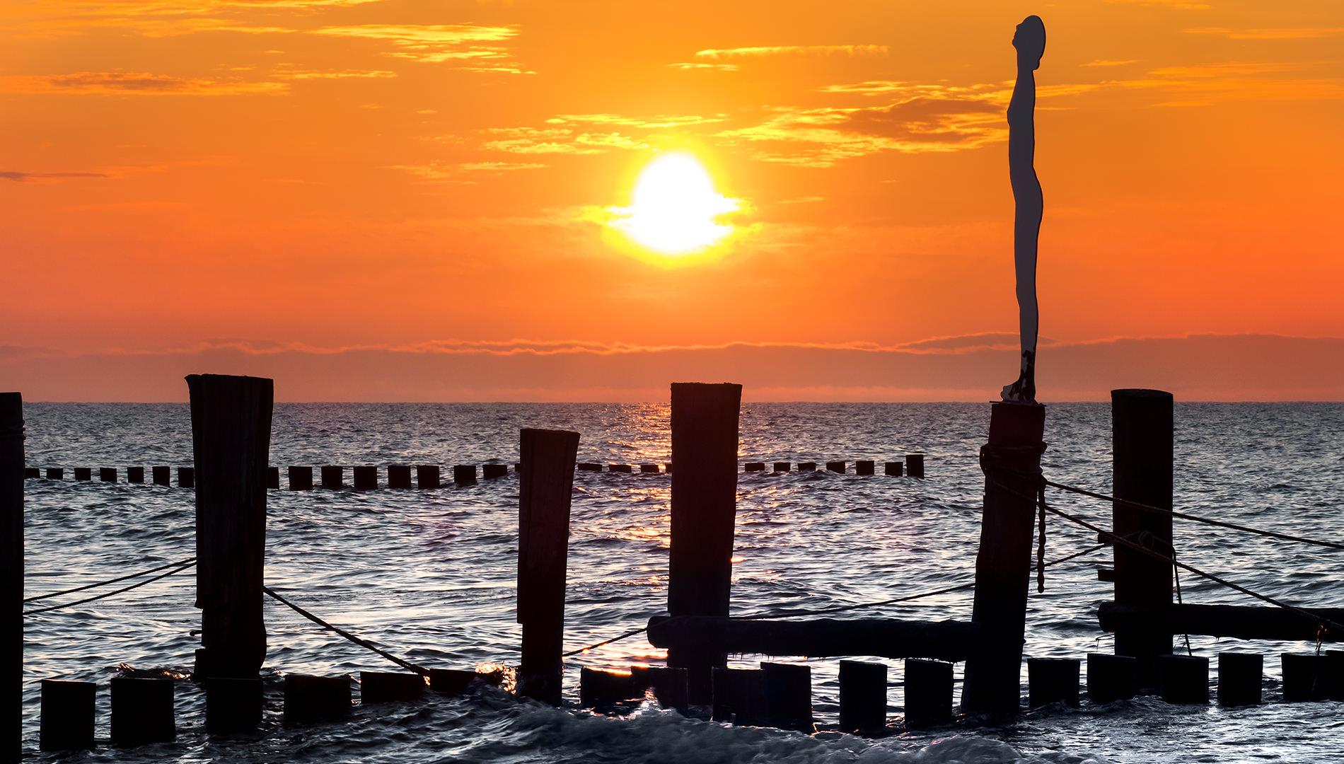 Messe Design Live Kommunikation Zingst Fotokunstpfad Meer Holz Sonnenuntergang Going Places EventLabs