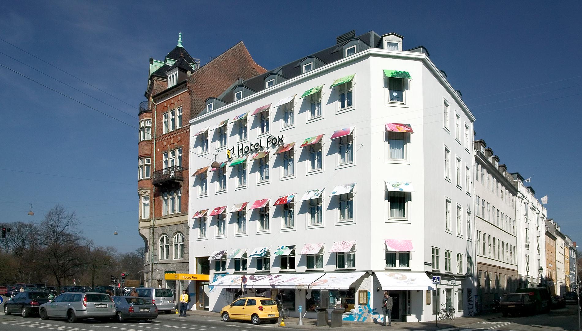 Messe Design Live Kommunikation Kopenhagen VW Projekt Fox Hotel Fassade Eingang Going Places EventLabs