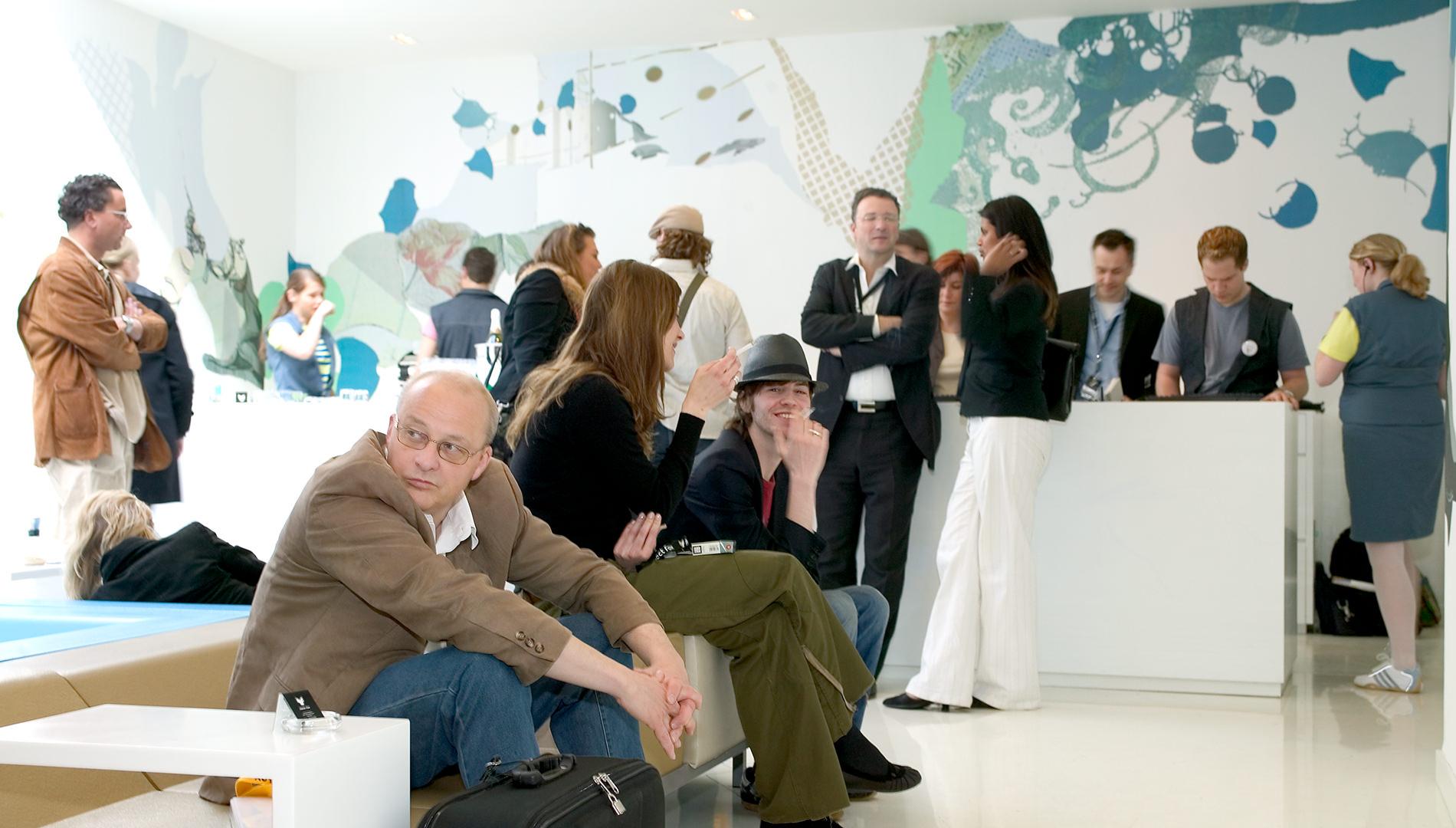 Messe Design Live Kommunikation Kopenhagen VW Projekt Fox Hotel Empfang Lounge Gäste Going Places EventLabs